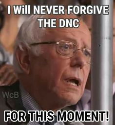 NEVER. We ALL Know This Man Won The Nomination & That We Are Being Asked To Vote For The THIEF Of That Nomination. To That I Say Hell Nah. #SteinBaraka #Bernie4SenateMajority! #BBB