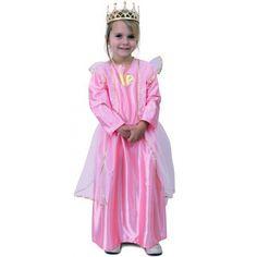 Voordelige roze prinsessen jurk. Roze prinsessen jurk voor meisjes met op de voorkant een gouden hart. Carnavalskleding 2015 #carnaval