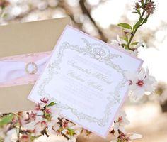 Hermosa tarjeta de invitacion