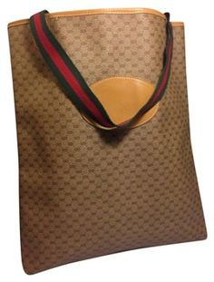 e738e89e45 Gucci Vintage Handbag Brown Tote Bag