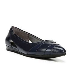 LifeStride Quizzical Women's Pointed Toe Flats, Size: medium (9.5), Blue