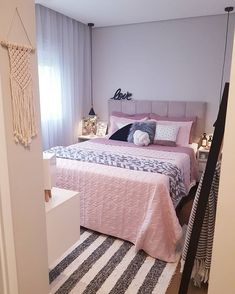 Tiny Bedroom Design, Fancy Bedroom, Small Room Design, Girl Bedroom Designs, Home Room Design, Small Room Bedroom, Bedroom Decor For Teen Girls, Cute Bedroom Ideas, Minimalist Room