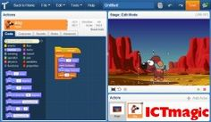 This is an online programming suite for kids. It closely resembles MIT's Scratch, but it has improved on a few features and striped away some others. One great feature is that students can sign on with a Google Apps for Education account. Plus, because it is made with HTML5 you can use it on most modern devices, including on Android tablets and iPads.