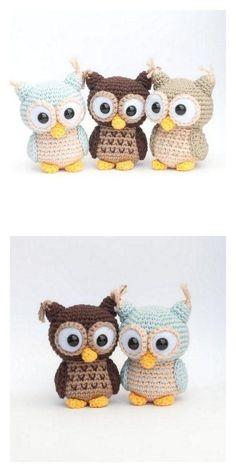 Owl Crochet Pattern Free, Crochet Deer, Crochet Patterns Amigurumi, Amigurumi Doll, Crochet Dolls, Free Crochet, Crochet Hats, Owl Patterns, Doll Patterns Free
