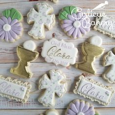 Fun Cookies, Sugar Cookies, Eucharist, First Holy Communion, Communion Dresses, Holi, Bakery, Celebration, Floral