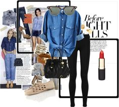 A fashion look from July 2012 featuring denim top, legging pants and leather flats. Browse and shop related looks. Denim Leggings, Leggings Are Not Pants, Denim Top, Leather Flats, Fashion Looks, Polyvore, Shopping, Tops, Jean Blouse