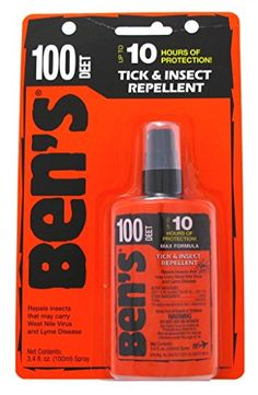 Bens Tick  Insect Repellant 100 Deet 34oz Pump Carded ** Find out more about the great product at the image link.(This is an Amazon affiliate link and I receive a commission for the sales)