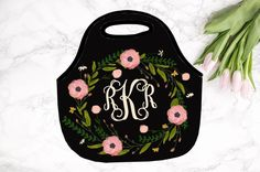 Christmas Gift, Monogrammed Lunch Bag, Personalized Lunch Tote, lunch bag for women by SassySouthernGals on Etsy https://www.etsy.com/listing/244377850/christmas-gift-monogrammed-lunch-bag