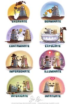 Doctor Who: Dalek Dialect by Risachantag on DeviantArt Doctor Who Dalek, Doctor Who Funny, Doctor Who Fan Art, Serie Doctor, Doctor Who Wallpaper, Torchwood, Cultura Pop, Dr Who, Superwholock