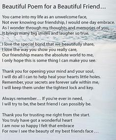 KEEP SMILING Photo: Beautiful poem for a beautiful friend