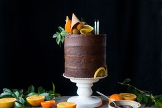 VEGAN CHOCOLATE ORANGE CAKE + SUPPERCLUB ANNOUNCEMENT WITH SALVIA LIMONE (V+, CHF, GF, NF)