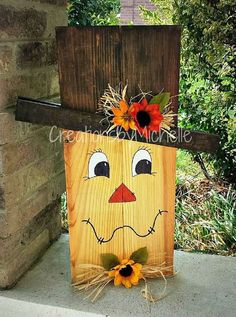 wooden halloween decorations 4 x 4 Fall Wood Crafts, Halloween Wood Crafts, Pallet Crafts, Pallet Art, Thanksgiving Crafts, Fall Halloween, Holiday Crafts, Halloween Decorations, Diy Projects For Fall