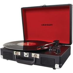 """Crosley Radio Cruiser Portable Turntable Black. Use discount code """"holidays"""" to enjoy 20% discount and free shipping storewide."""