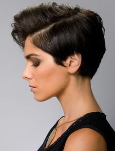 Short Cropped Hair, fluff on the top