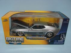 Jada Toys Bigtime Muscle 1973 Ford Mustang Mach 1 Silver 1/24 Scale Die-Cast Replica Car
