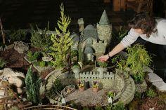 Minnesota Landscape Arboretum.. large faery garden with castle