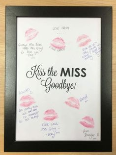 Our Kiss Boards make an excellent keepsake