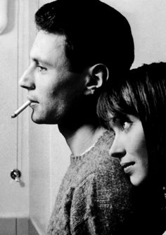 Michel Subor & Anna Karina in Le Petit Soldat (dir. Jean-Luc Godard)