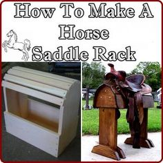 The Homestead Survival | How To Make A Horse Saddle Rack | http://thehomesteadsurvival.com: