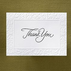 Embossed Filigree - Thank You Card with Verse and Envelope