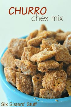 Churro Chex Mix on SixSistersStuff.com - this stuff is addicting!