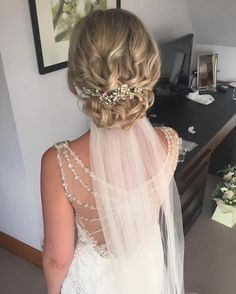Blonde Curly Chignon Updo