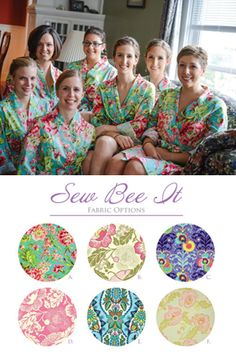 Gorgeous floral print bridesmaid robes - the perfect thing to wear during hair and makeup before the wedding. And they come in the prettiest colors & prints!