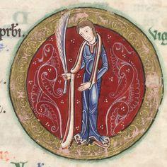 The Hunterian Psalter: Calendar. Zodiac Sign of Virgo.