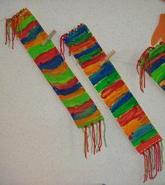 Knutselen - Sjaal schilderen.