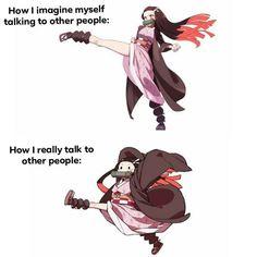 funniest Demon Slayer Kimetsu No Yaiba memes, best demon slayer memes to laugh at Me Anime, Anime Demon, Anime Manga, Anime Art, Hee Man, Slayer Meme, Demon Hunter, Dragon Slayer, Funny Comics
