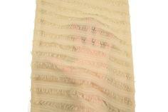 Light Caramel Silk Chiffon Diagonal Stripe on by felinusfabrics