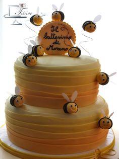 Bee cake - torta con le api per il battesimo di Moreno
