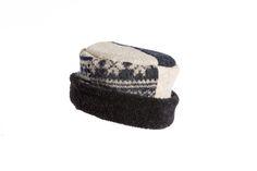 Black, Gray & White Rolled Pillbox Hat