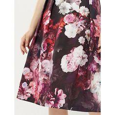 Buy Oasis Floral Midi Skirt, Multi Online at johnlewis.com