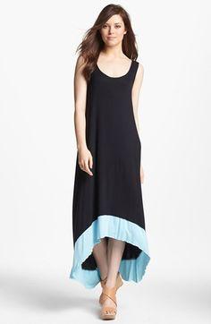 Kensie Colorblock High/Low Dress | Nordstrom