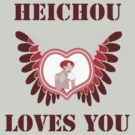 Heichou Loves You- Logo  Buythings with this Logo here :http://www.redbubble.com/people/aoko/portfolio