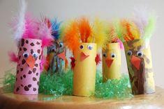 Toilet paper tube Easter Chicks