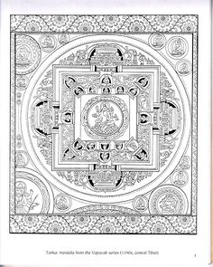 14 Best Mandalas And Thangkas To Color Images On Pinterest Tibetan