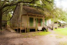 Like the color green for my kitchen trim  cottage on the grounds of Destrehan Plantation in Louisiana