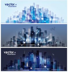 big city day and night vector