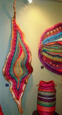 polish up some interesting branches and crochet and weave away.  pretty.