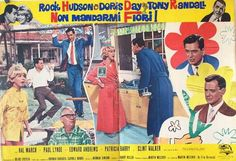 Send Me No Flowers Movie Poster #RockHudson #DorisDay #TonyRandall