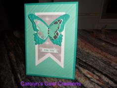 Carolyn's Card Creations: Beautiful Butterfly For You