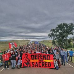 Water Protectors marched to the location where the Dakota Access pipeline company bulldozed thru a sacred site that included grave markers on Saturday, Sept 3rd.