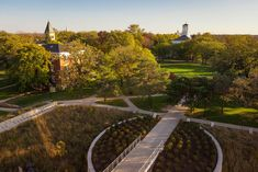 Founded in Beloit College is a private liberal-arts college in southern Wisconsin. Beloit College, Effigy Mounds, Liberal Arts College, Architectural Styles, Lawns, Public Art, Pathways, Building Design, Wisconsin