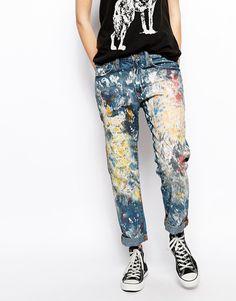 Denim+&+Supply+By+Ralph+Lauren+Painted+Boyfriend+Worker+Jeans
