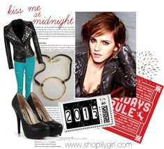 """Kiss me at midnight"" #kiss #leather #emmawatson"