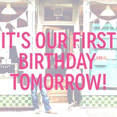 It's our first birthday tomorrow! Don't miss out on SALE items and 10% off different Annie Sloan items Wed - Sat