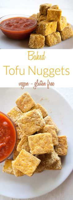 Baked Tofu Nuggets (