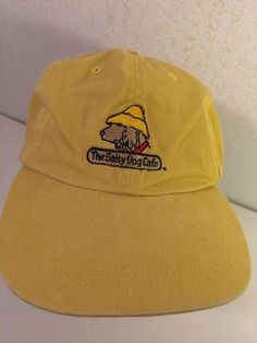 1e8620556d8 The Salty Dog Cafe Cap Backstrap Adjustable Hat Yellow by Fahrenheit 100  Cotton